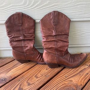 Arturo Chiang Brown Leather Cowboy Boots